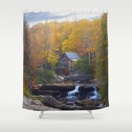 Glade Creek Mill in Autumn Shower Curtain