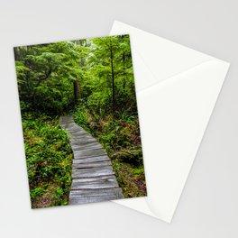 Hiking to Cape Flattery, Olympic Peninsula, Washington Stationery Cards