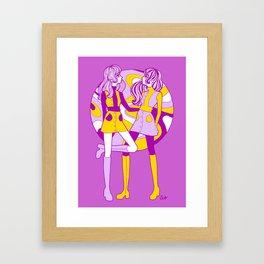 Violet Dollygirls Framed Art Print