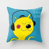 dj Throw Pillows featuring dj by Sucoco