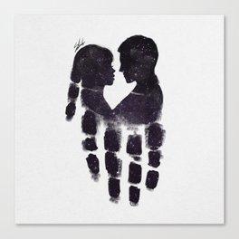 Peaceful love Canvas Print