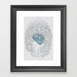 Ancient Brainstorm grey Framed Art Print