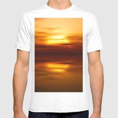 eveninghour MEDIUM White Mens Fitted Tee