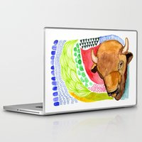 buffalo Laptop & iPad Skins featuring BUFFALO by dorc