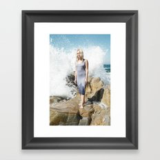 Ocean's Pulse Framed Art Print