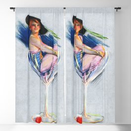 Woman in Martini glass by Lou Mayer Blackout Curtain
