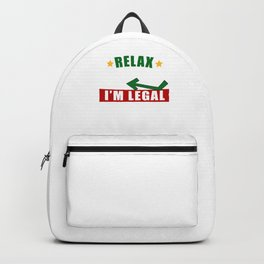 Government Relax Gringo I'm Legal American Mexican Immigrant  Backpack