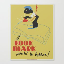 Book Mark Canvas Print