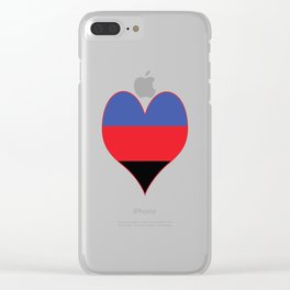 Polyamorous Heart Clear iPhone Case