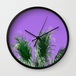 Palms on Purple Wall Clock