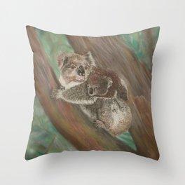 Koala Love with Joey Throw Pillow