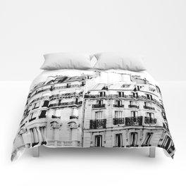 paris rooftops Comforters