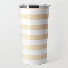 Simply Striped Deep Bronze Amber Travel Mug