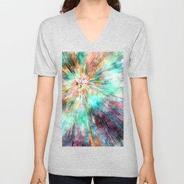 Colorful Tie Dye Unisex V-Neck