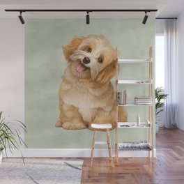 Smiling Dog (Havanese) Wall Mural