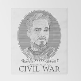 Civil War #2 Throw Blanket