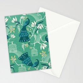 Aviary - Green Stationery Cards