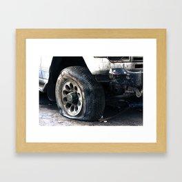 Flat Tire! Framed Art Print