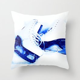 Anyone For Skating? Throw Pillow