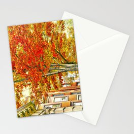 South End. Fall in Boston, MA.  Stationery Cards