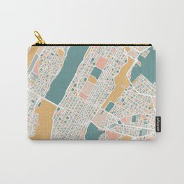 Manhattan New York Map Art Carry-All Pouch
