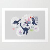 Dinosaur Jello Debutante Party Art Print