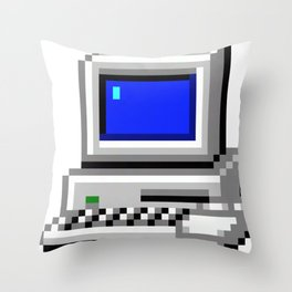 Vintage Computer Systems Throw Pillow