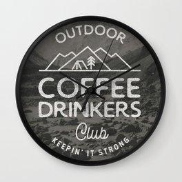 Outdoor Coffee Drinkers Club Wall Clock