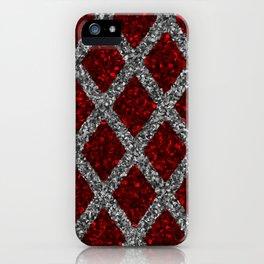 red gray rhombus iPhone Case