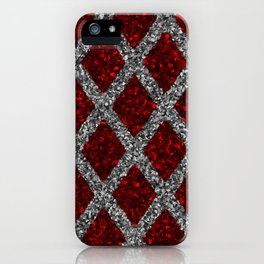 red gray rhombus iPhone Case