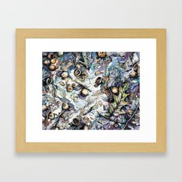 Acorns and Twigs Framed Art Print