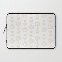 Beachy Seashell Pattern Laptop Sleeve