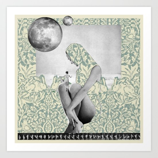 Dance to the Two Moons Art Print