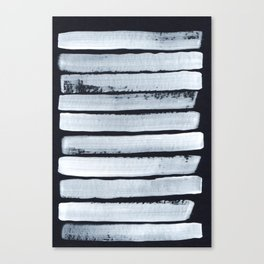Abstract White Stripes Canvas Print
