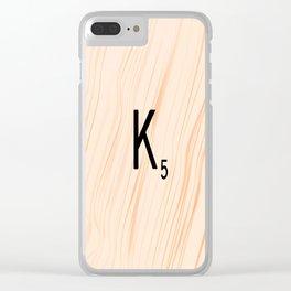 Scrabble Letter K - Large Scrabble Tiles Clear iPhone Case