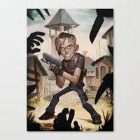resident evil Canvas Prints featuring Resident Evil 4 by Max Grecke