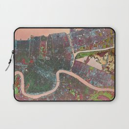 A Map of Vibrant New Orleans Laptop Sleeve