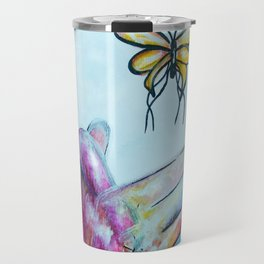 American Sign Language BUTTERFLY Travel Mug