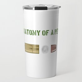 """""""Anatomy Of A Pew Bang Button Metal Holdy Thing Magical Fire Dust Freedom Seed"""" T-shirt Design Travel Mug"""