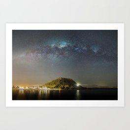 Mauao Milky Way Art Print