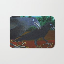 Two Crows and a Beetle Bath Mat