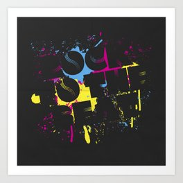 Rock To The Beat Art Print