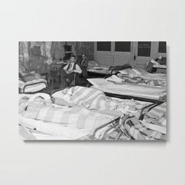 Flophouse of about thirty-seven beds at fifty cents each constantly crowded with construction worker Metal Print