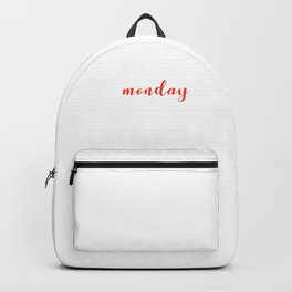 Funny School Statement Typography I Hate Monday  Backpack
