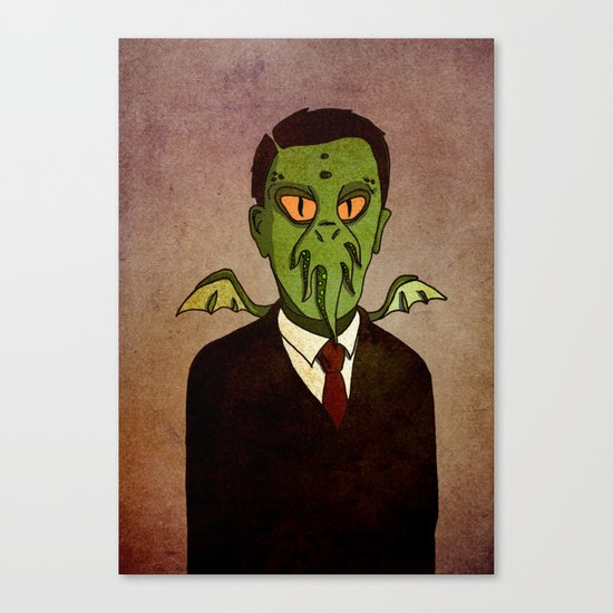 Prophets of Fiction - H.P. Lovecraft /Cthulhu Canvas Print