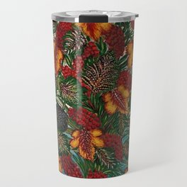 Grapes and Grape Leaves in Vase by Seraphine Louis Travel Mug