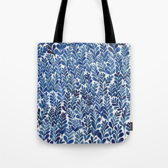Indigo blues Tote Bag