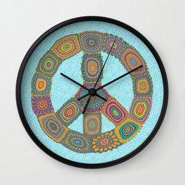 Peace is Groovy Wall Clock