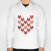 foxes Hoodies featuring Foxes  by creaziz