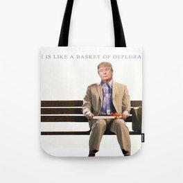 Forrest Gump Parody Of Donald Trump Tote Bag